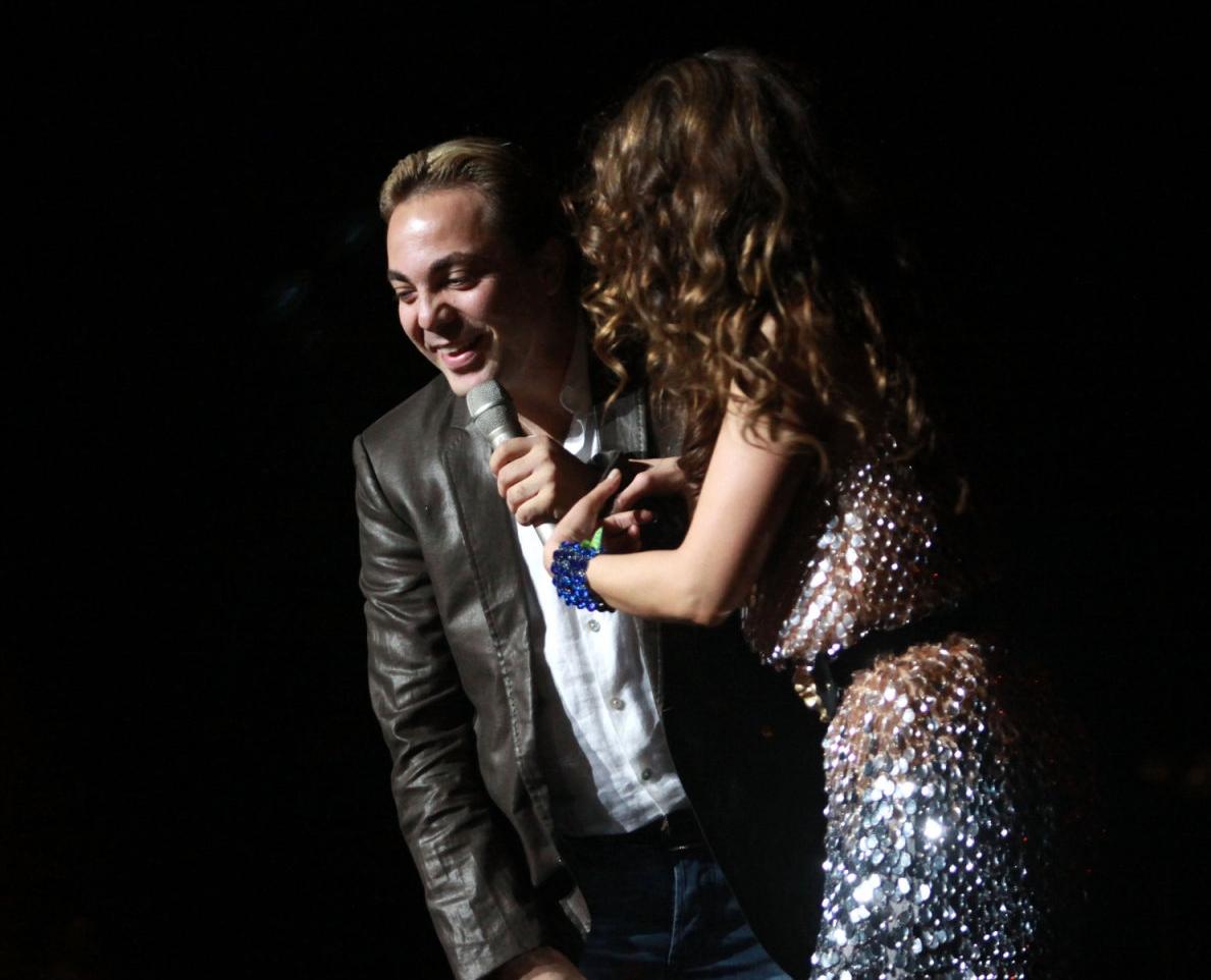 Thalia con Christian Castro