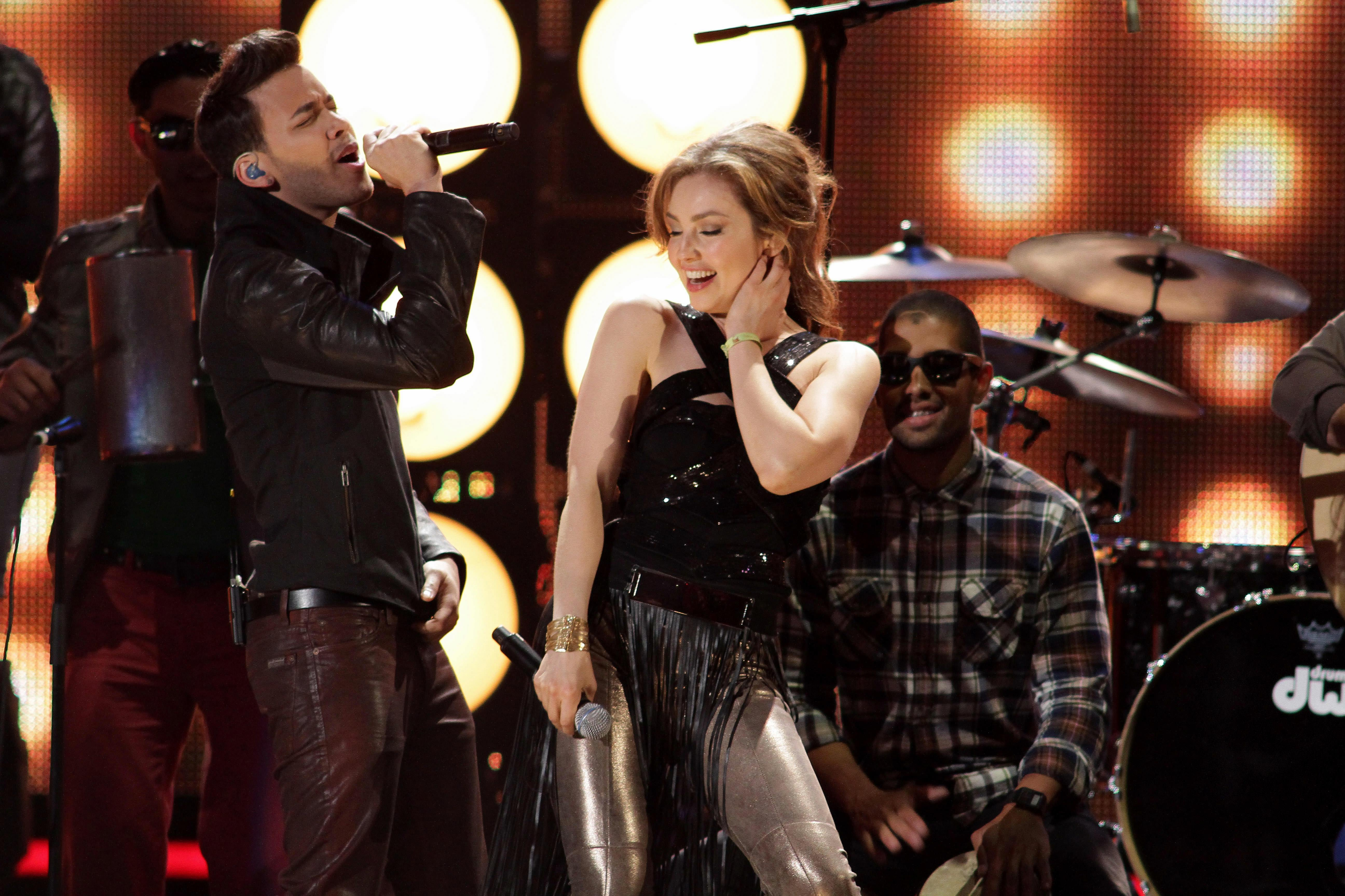 Prince Royce and Thalia