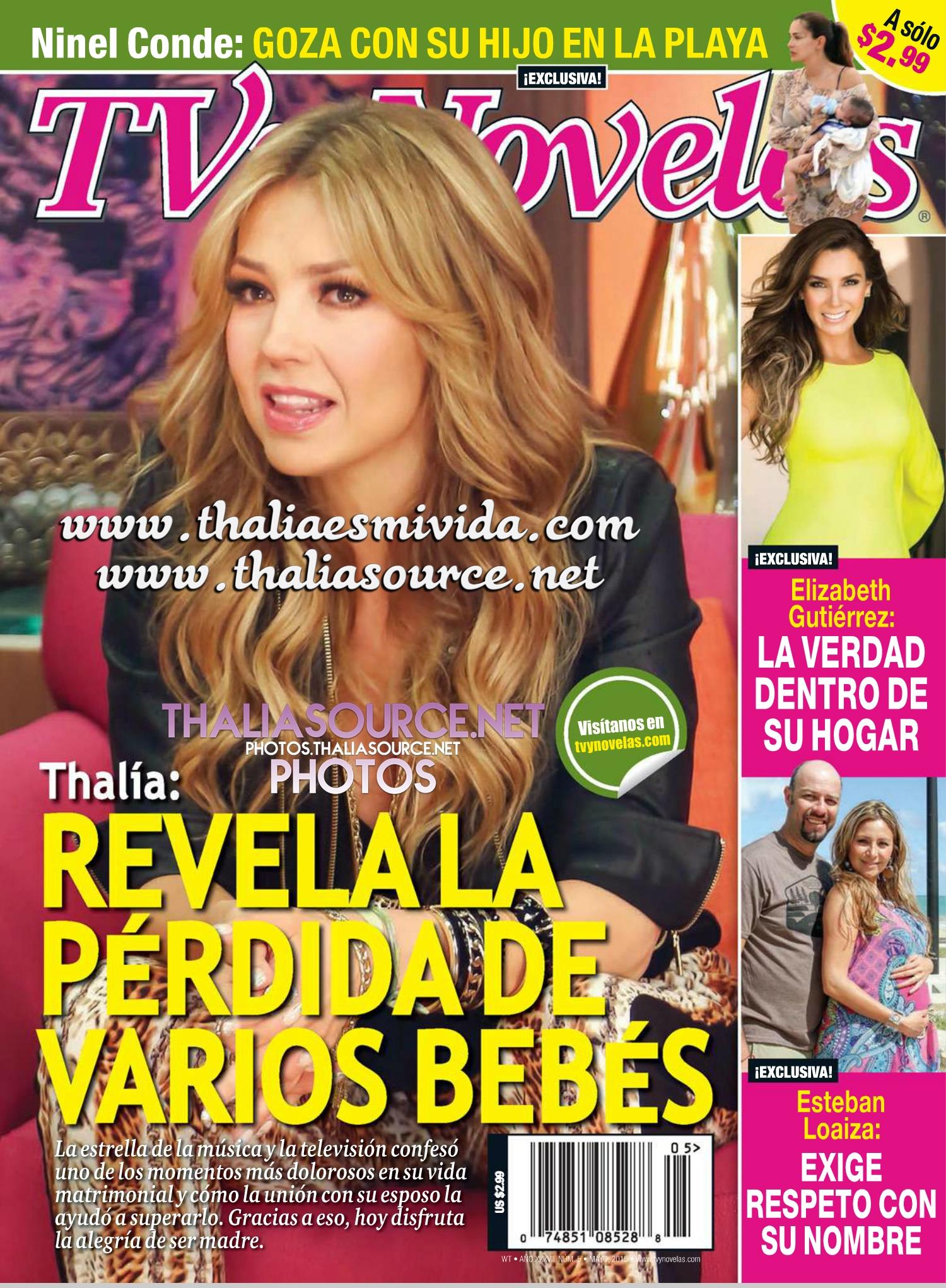 Click aquí para los HQ scans de la revista en la fotogalería de Thalía Source