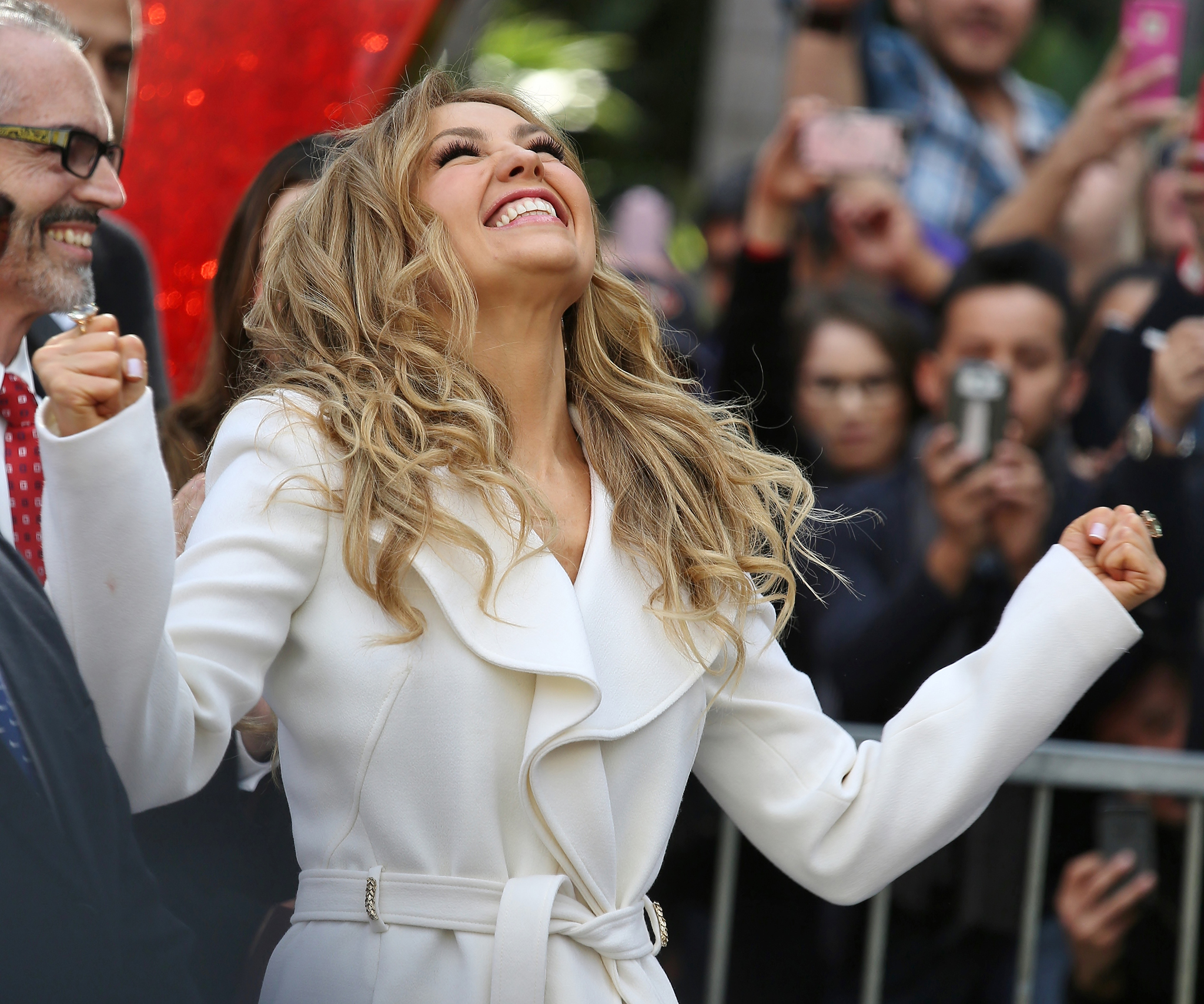 Thalia honored with a star on the Walk of Fame in Hollywood, California
