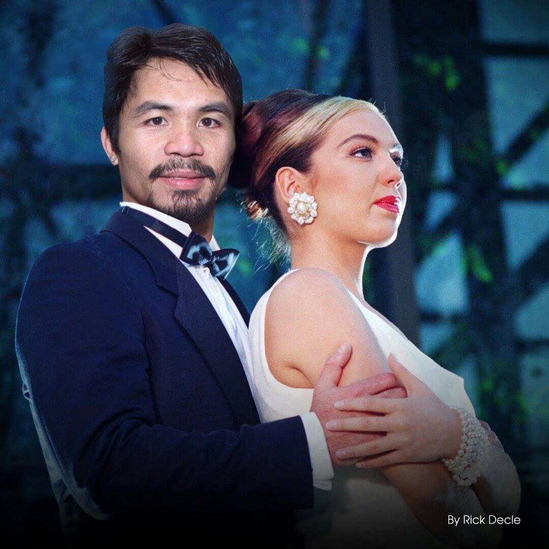 Thalia with Manny Pacquiao