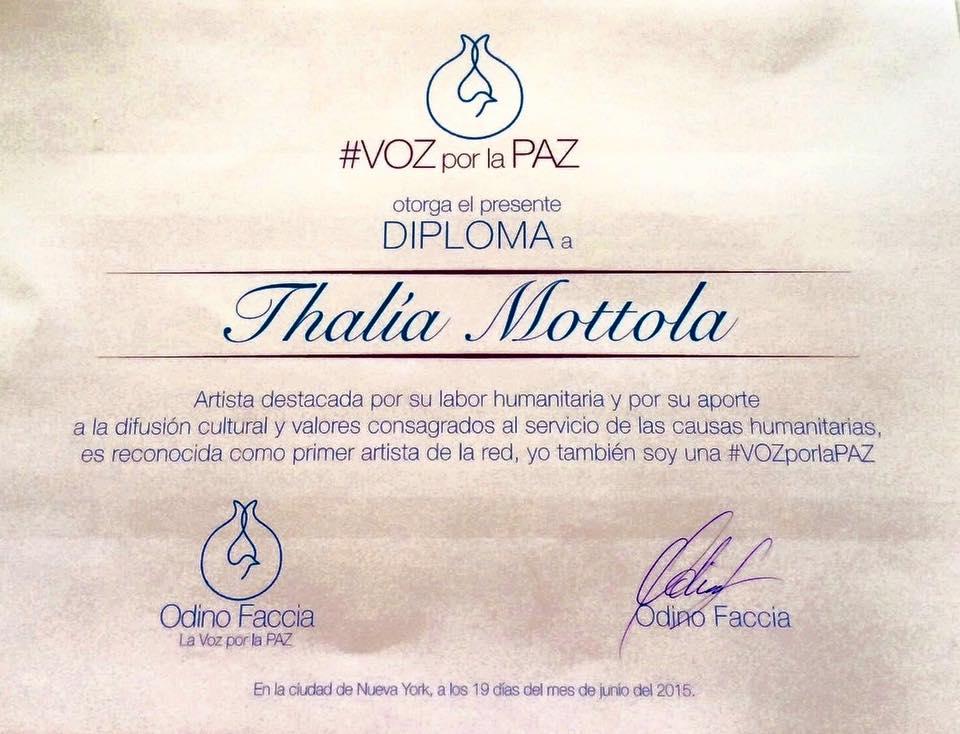 Thalia Voz Por La Paz