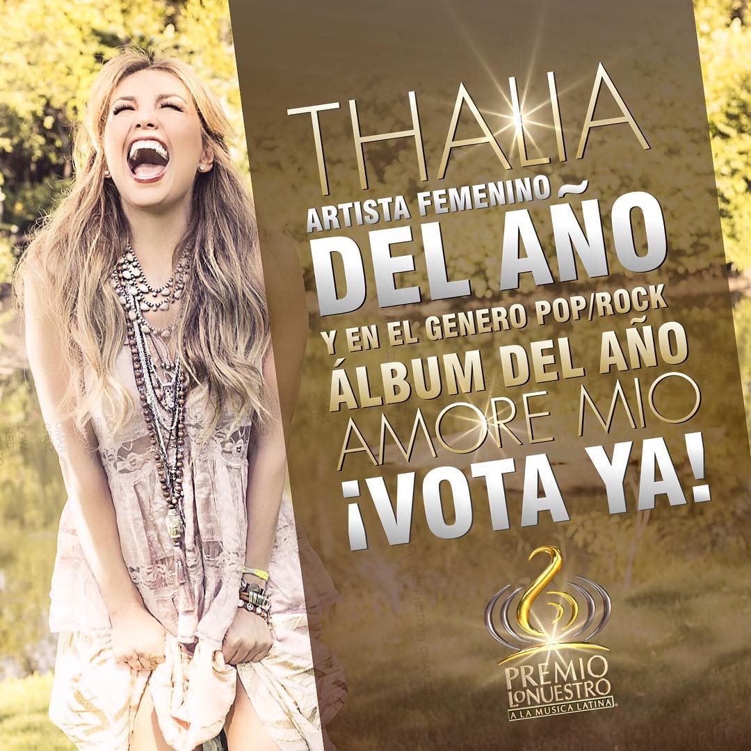 Clic aquí para votar por Thalía