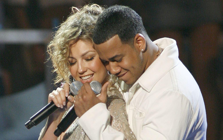 Thalía con Romeo Santos