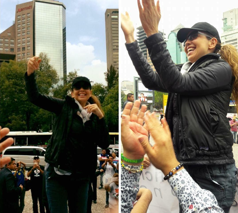 Thalía se reunió con sus fans antes del concierto